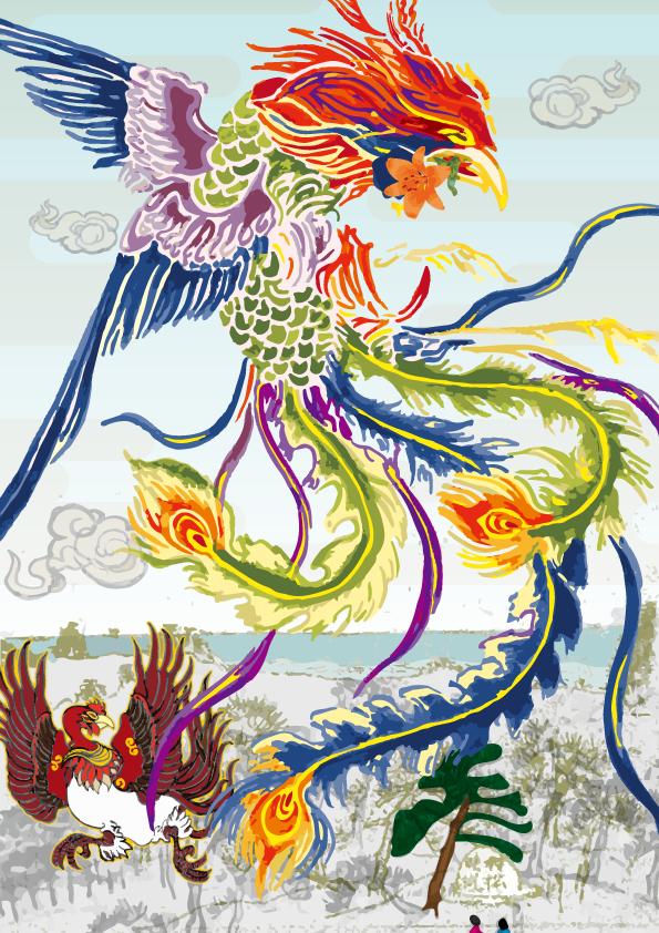 【とうかい万燈神輿】朱雀と鳳凰